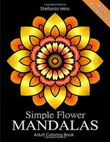 Stefania Miro - Simple Flower Mandalas Black Background