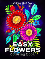 Coloring Book Cafe - Easy Flowers
