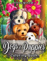 Coloring Book Cafe - Dogs and Puppies
