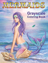 Alena Lazareva - Mermaids Grayscale Coloring Book