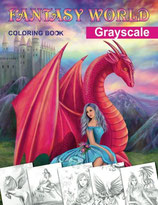 Fantasy World Grayscale Coloring Book - Alena Lazareva