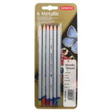 Derwent Metallic Colour blister 6 pencils