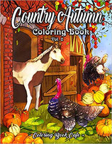 Coloring Book Cafe - Country Autumn 2