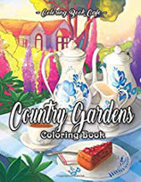 Coloring Book Cafe - Country Gardens