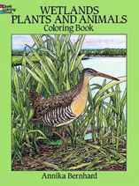 Wetlands Plants and Animals - Coloring Book