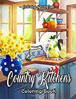 Coloring Book Cafe - Country Kitchens