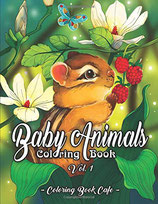 Coloring Book Cafe - Baby Animals 1