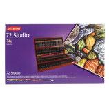 Derwent Studio Wooden box - 72 stuks