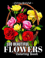 Coloring Book Cafe - 100 Beautiful Flowers
