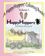 A Happy Hoppers Coloring Book, Volume 1