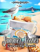 Coloring Book Cafe - Summer Scenes