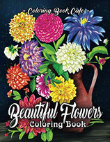 Coloring Book Cafe - Beautiful Flowers