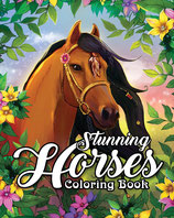 Coloring Book Cafe - Stunning Horses