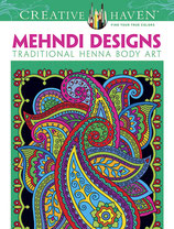 Mehndi Designs Coloring Book traditional Henna Body Art