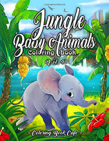 Coloring Book Cafe - Jungle Baby Animals 4