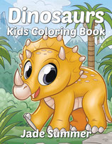Jade Summer - Dinosaurs Kids Coloring Book