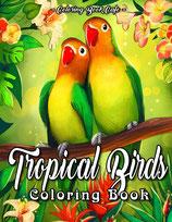 Coloring Book Cafe - Tropical Birds