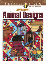 Awesome Animal Designs Coloring Book
