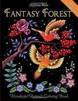 Stefania Miro - Fantasy Forest Black Background