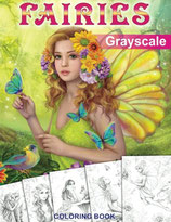 Fairies Grayscale Coloring Book - Alena Lazareva