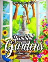 Coloring Book Cafe - Beautiful Gardens