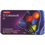 Derwent Coloursoft - blik van 72 stuks