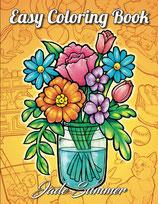 Jade Summer - Easy Coloring Book