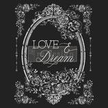 Redesign Transferfolie Motiv  - Love & Dream