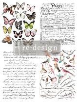 redesign Transferfolie Motiv  - Parisian Butterflies