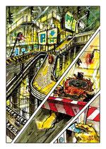 Planche Originale BD n°156 du tome -2 la Chrysalide.