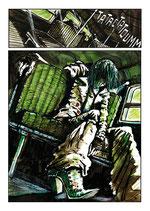 Planche Originale BD n°93 du tome -2 la Chrysalide.