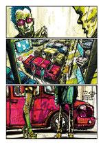 Planche Originale BD n°28 du tome -2 la Chrysalide.