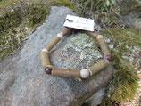 Bracelet noisetier avec écorce et jaspe mokaite
