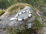 Bracelet noisetier tourné au tour à bois, traces écorce et oeil de faucon