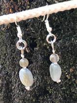 Boucles avec perle et nugget de Labradorite