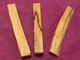 Lot de 3 bâtonnets de bois Palo Santo d'environ 10 cm de long et 1,5 cm de large