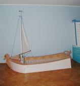 """Segelboot """"Seepferdchen"""", Kinderbett mit ausziehbarem Bettkasten"""