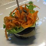 Käse-Birnen-Möhren Pincho
