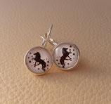 Ohrringe mit Islandpferd Brisuren