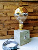 Betonlampe gold