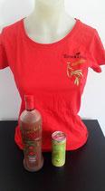"""T- Shirt Rot   """"NingXia Red mit Beeren"""""""