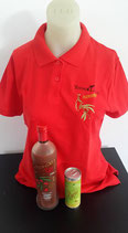 "Polo Shirt Rot   ""NingXia Red mit Beeren"""
