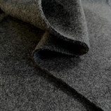 Bio ~ Fleece ~ Meterware ~ schwarz / meliert ~ ab 25 cm