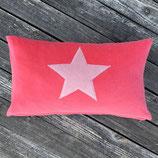 KuschelKissen ~ NICKY ~ pink mit rosa Stern-Applikation