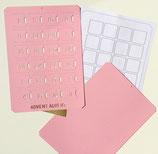 Bastelset Adventskalender*A4 rosa, hochkant