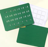 Bastelset Adventskalender*A4 grün, quer