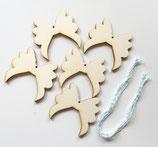 5 Flügel Holzanhänger zum selber kreativ Gestalten