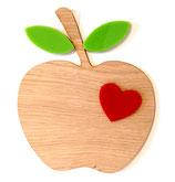 Holz-Apfel Wanddeko