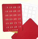 Bastelset Adventskalender*A4 rot, hoch