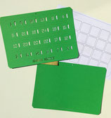 Bastelset Adventskalender*A4 hellgrün, quer